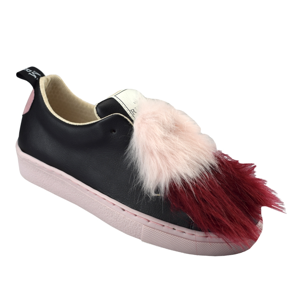 Bamburi |Bamburi love runway red & white fur MULHER Bamburi