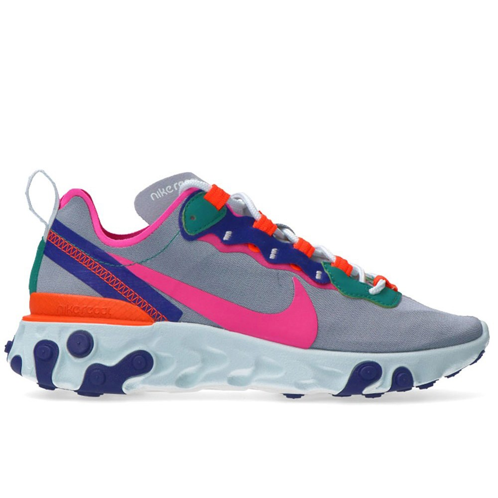 2b5ee984861d1 NIKE W REACT ELEMENT 55 WOLF GRY/LASER FUC (CLM)