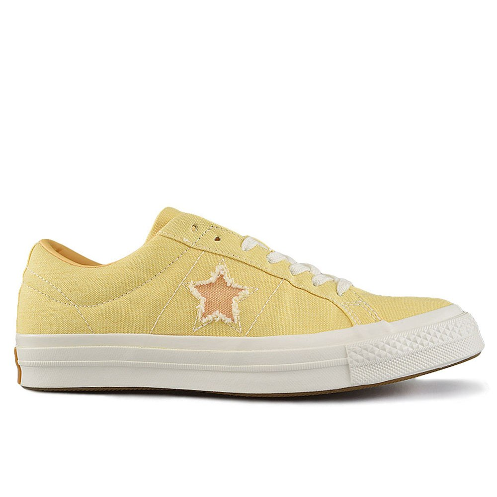 4ef4d7dbc CONVERSE ONE STAR OX BUTTER YELLOW MELON B (CLH)