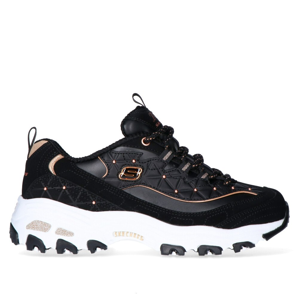 2a810d58e24 SKECHERS D LITES GLAMOUR FEELS BLACK ROSE (CLM)