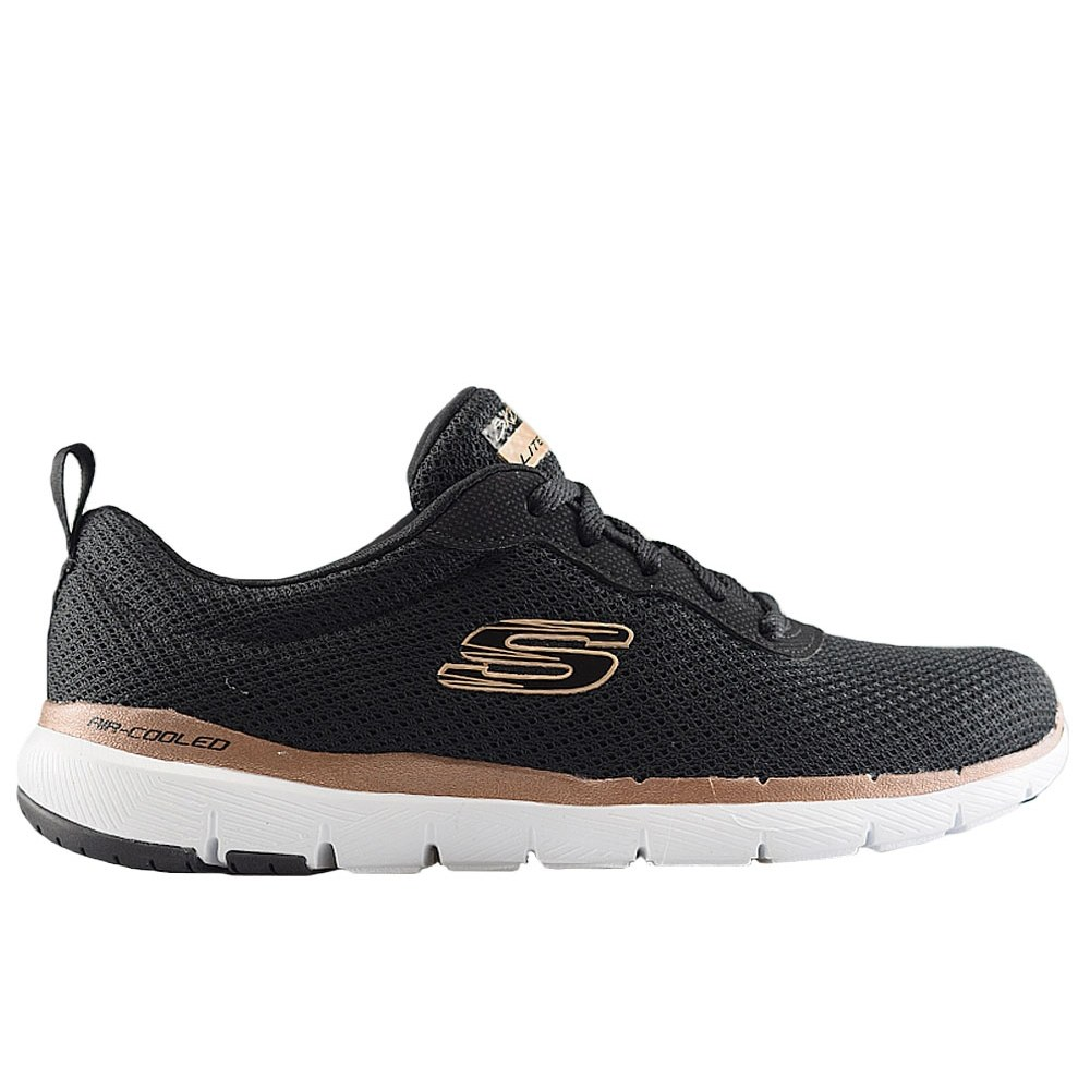 dc52d3ed5f4 SKECHERS FLEX APPEAL 3.0 BLACK ROSE GOLD (CLM)