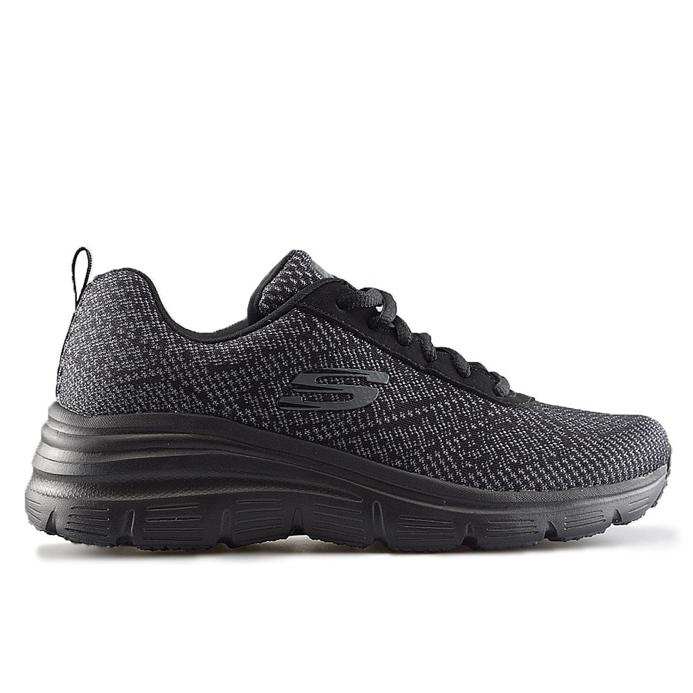7374f818b SKECHERS FASHION FIT BOLD BOUNDARIES BLACK (CLM)