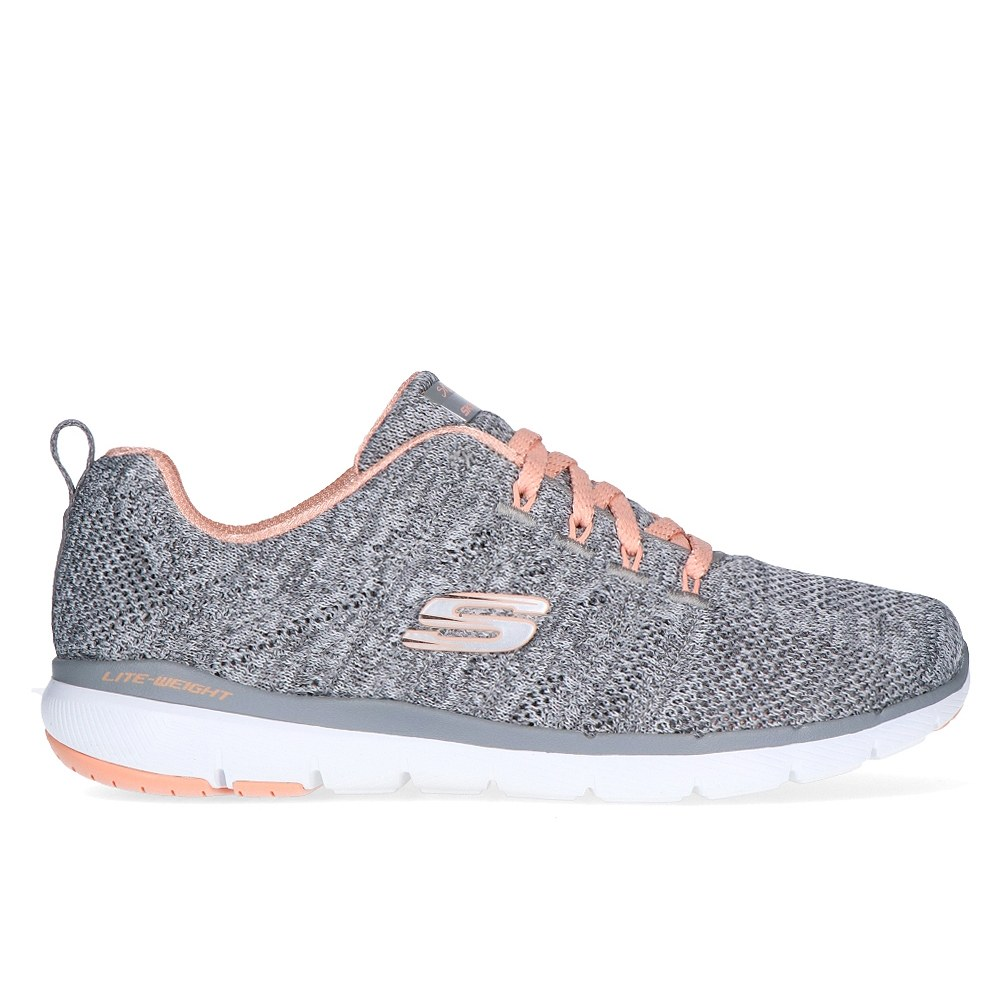 9761810eb SKECHERS FLEX APPEAL 3.0 HIGH TIDES GRAY/C (CLM)