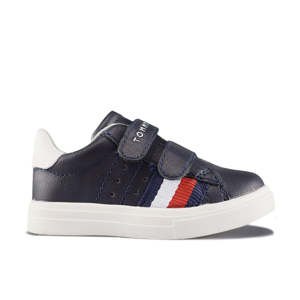 ac900a199 TOMMY HILFIGER TENIS LOW CUT VELCRO BLUE WHITE (CLB)
